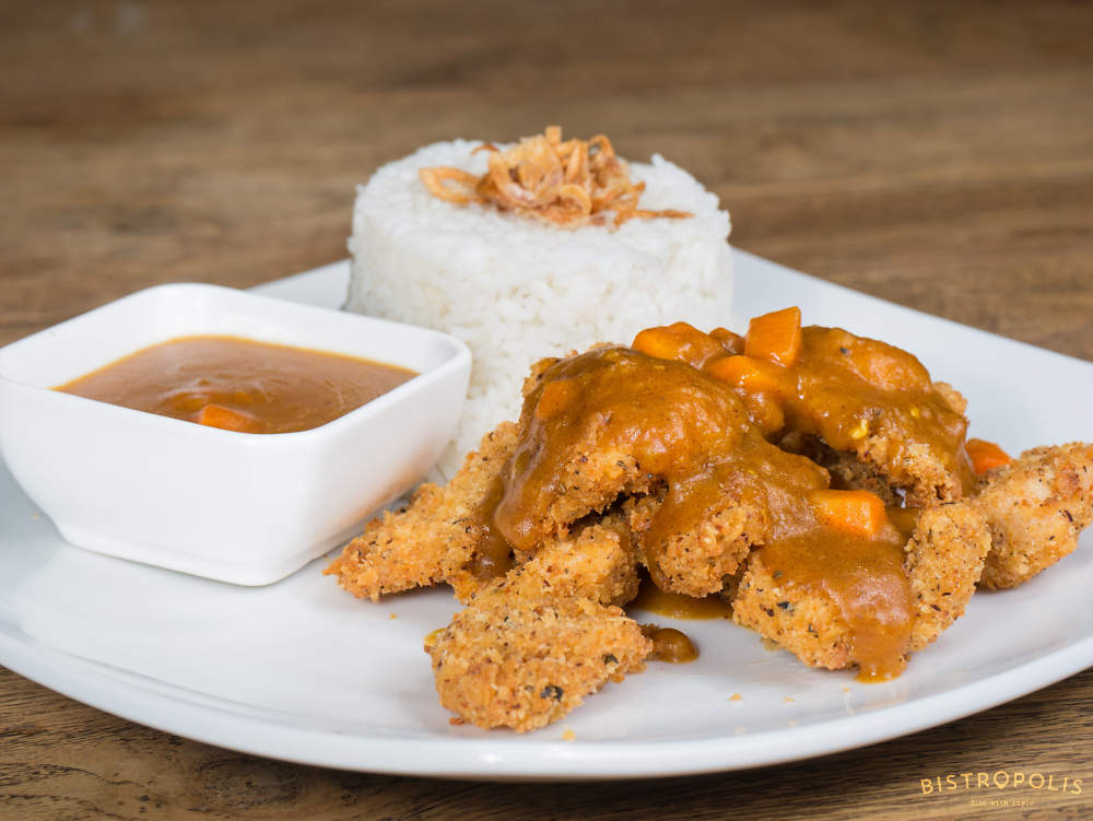 Chicken Schnitzel With Curry Sauce